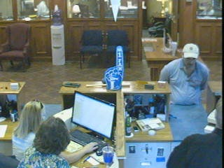 Bank video, counter